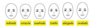 forma de la cara para cortar pelo