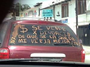 multa por se vende en coche
